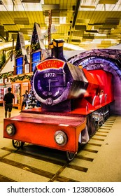 Singapore - Nov 18, 2018: A Wizarding World Holiday at Changi, a Harry Potter-themed event held in Changi Airport, Terminal 3, Singapore.