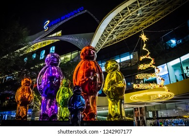 Singapore - Nov 20, 2018: Christmas decoration at Plaza Singapura in Orchard Road, Singapore.