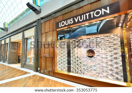369fbcf2dde7 SINGAPORE -NOV18  Louis Vuitton Store in Marina Bay Sands Shopping mall