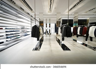 SINGAPORE - NOVEMBER 08, 2015: interior of Dior store. Dior, is a European luxury goods company controlled and chaired by French businessman Bernard Arnault