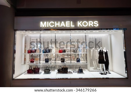 08e3fdc971dd SINGAPORE NOVEMBER 08 2015 Shopwindow Michael Stock Photo (Edit Now ...