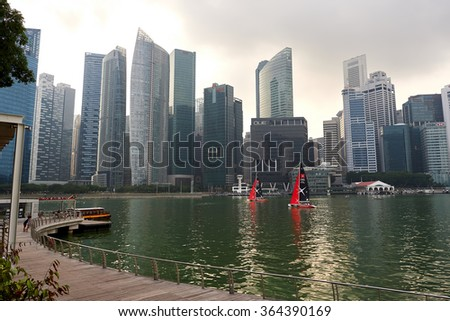 2d6fc029f SINGAPORE NOVEMBER 08 2015 View Singapore Stock Photo (Edit Now ...