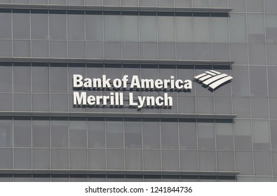 SINGAPORE - NOVEMBER 16, 2018: Bank of America Merrill Lynch logo.