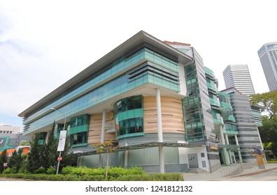 SINGAPORE - NOVEMBER 16, 2018: Singapore Management University in Singapore