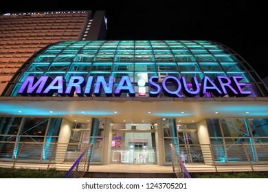SINGAPORE - NOVEMBER 17, 2018: Marina Square shopping mall in Singapore.