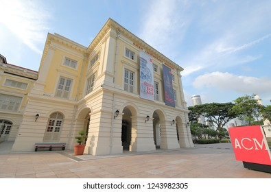 SINGAPORE - NOVEMBER 18, 2018: Asian Civilisations Museum. Asian Civilisations Museum is specialising pan-Asian cultures and civilisations established in 1998