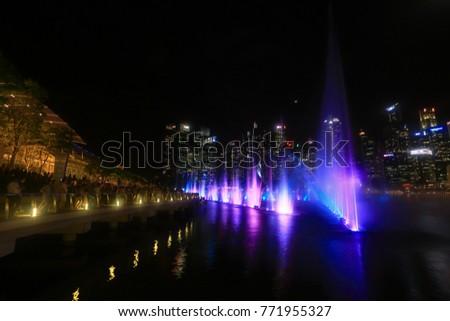 singapore november 222017 amazing light water stock photo edit now
