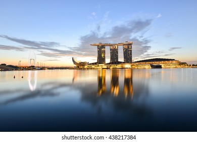SINGAPORE - NOVEMBER 7, 2014: Marina Bay Sands, World's most expensive standalone casino property in Singapore at S$8 billion on Nov 7, 2014