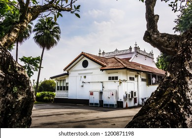 Singapore - Oct 10, 2018: Beaulieu House, built sometime in the 1910s, is located at Sembawang Park in Singapore, overlooking the Straits of Johor.