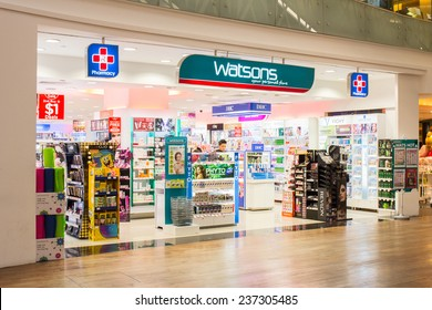 SINGAPORE - OCT 19 : Watson Store at ION Orchard shopping mall on October 19, 2014. Watson's (Your Personal Store) is part of Health and Beauty retail and consumer division of A.S. Watson Group.