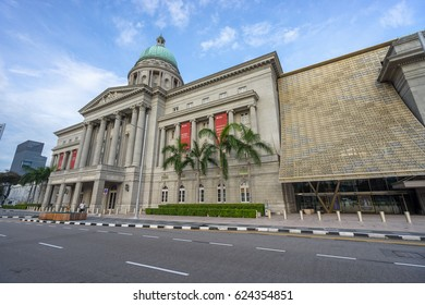 Singapore, Singapore - October 12, 2016: Supreme Court in Singapore. The building was the last structure in the style of classical Victorian architecture to be built in the former British colony.
