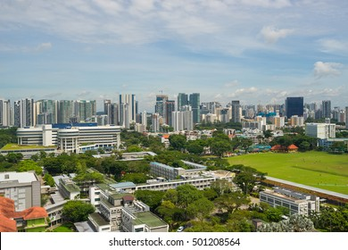 Singapore, Singapore - October 15, 2016 : Area view of old Little India town, Singapore .