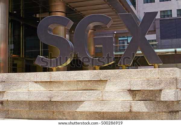 singapore, singapore - october 16, 2016: Singapore Exchange Limited is an investment holding company located in Singapore SGX Centre is a twin tower high-rise complex in the city of Singapore