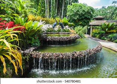 SINGAPORE - OCTOBER 17, 2014: The National Orchid Garden, located within the Singapore Botanic Gardens.