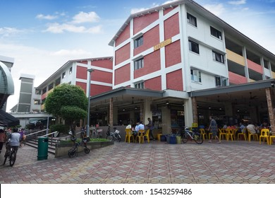 SINGAPORE - OCTOBER 20, 2019: Day view of HDB at Chong Pang City, Yishun in Singapore. It is located northern parts of Singapore, Nearest MRT Station: NS13 Yishun.