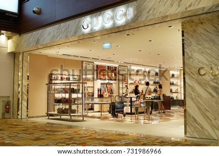 ccd764bca1c SINGAPORE OCTOBER 4 2017 Gucci Store Stock Photo (Edit Now ...