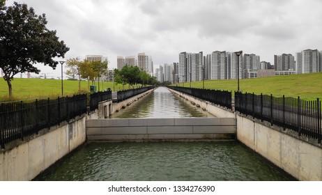 Singapore Public Housing Apartments in Punggol District, Singapore