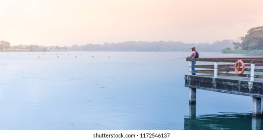 Singapore - Sept 2, 2018: Lower Seletar Reservoir is a reservoir located in the northeastern part of Singapore, to the east of Yishun New Town.