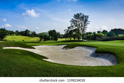 Singapore - Sept 29, 2018: sembawang country club with bunker in view.