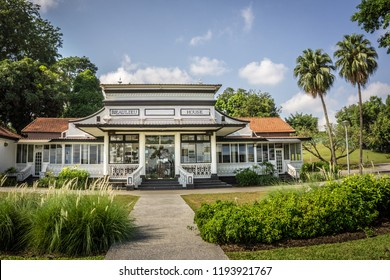 Singapore - Sept 30, 2018: Beaulieu House, built sometime in the 1910s, is located at Sembawang Park in Singapore, overlooking the Straits of Johor.