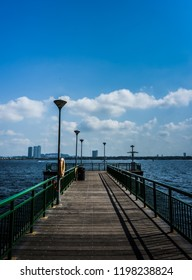 Singapore - Sept 30, 2018: Jetty in front of Beaulieu house.