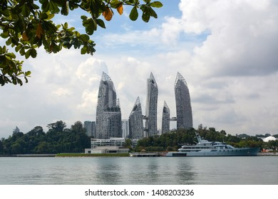 Singapore - September 11, 2018 - Award-winning architecture of Reflections at Keppel Bay in Singapore