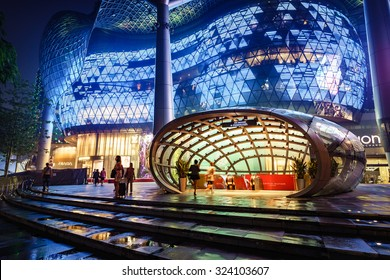 Singapore - September 14th, 2015: Ion Orchard department store is  where luxuary goods are sold. It is located on Orchard road