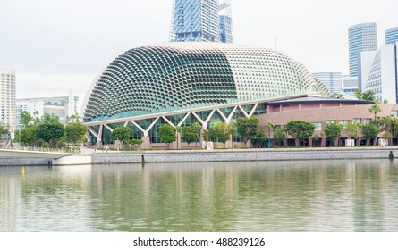 Singapore -September  17 2016 : building Esplanade - Theatres on the Bay