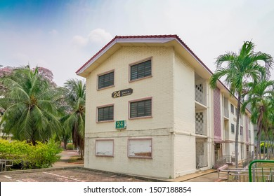 Singapore, Singapore - September 17 2019 One of Singapore's oldest public housing. This is a rate low rise HDB build in the 1960s for citizens. It will be demolished soon.