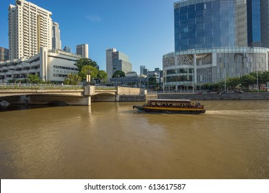 Singapore, Singapore - September 18, 2016 : Clarke Quay ancient port, Singapore. It is a historical riverside quay, located within the River Area.