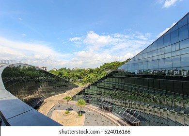 SINGAPORE - September 23, 2016: School of Art, Design and Media of the Nanyang Technological University in Singapore. NTU is one of the two largest public universities in Singapore
