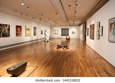 SINGAPORE, SEPTEMBER 24, 2016: gallery of National Gallery Singapore