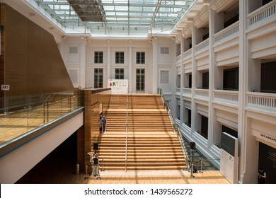 SINGAPORE, SEPTEMBER 24, 2016: interior of the National Gallery Singapore