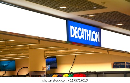 Singapore, September 30, 2018. Decathlon store located in City Square  Mall, Singapore. Decathlon is a French sporting goods retailer.