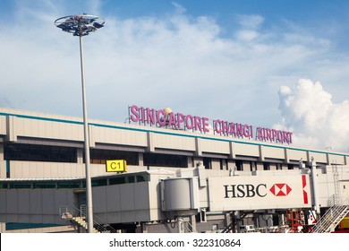 Singapore, Singapore/Singapore - July 19 2015: Changi Singapore International Airport in Asia