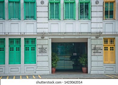 Singapore, Singapore/Singapore - May 05 2019: Singapore Ministry of Communication and Information, Ministry of Culture, Community and Youth