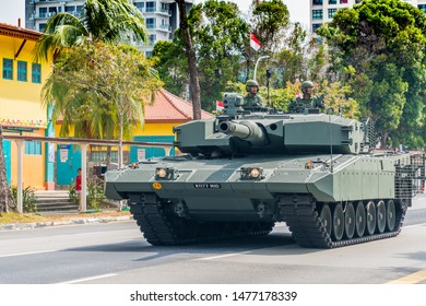 Singapore /Singpapore - Aug 10 2019 Mobile Column at Singapore National Day at the Heartlands