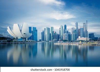 Singapore skyline at daytime.