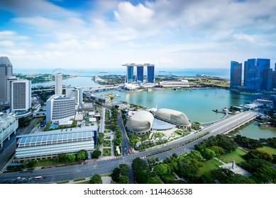 Singapore skyline at daytime.