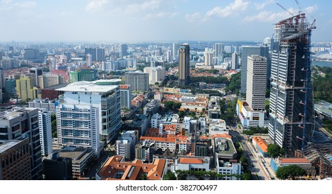Singapore Skyline from rooftop