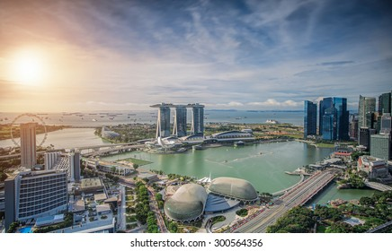 Singapore Skyline. Singapore`s business district