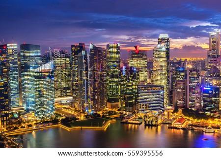 Singapore Skyline Singapore`s business
