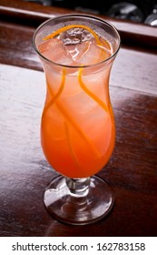 singapore sling cocktail on the bar