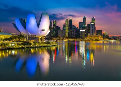 Singapore at summer day
