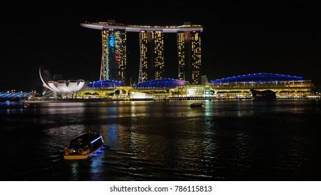 Singapore top view at night