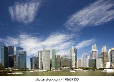 Singapore,02 September 2016.Building Business District City Architecture Office Concept