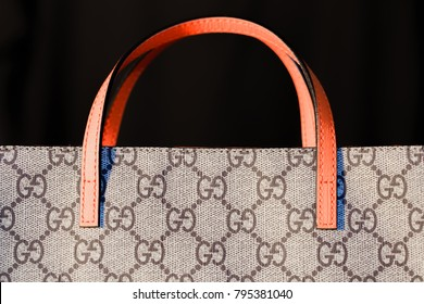 SINGAPORE-12 JAN 2018: Gucci hand bag display in shop
