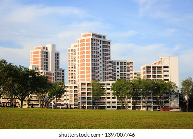 SINGAPORE-22 FEB 2019:Singapore HDB residential building view