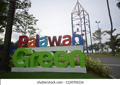 SINGAPORE-25 JUN, 2018: Palawan Green located in Sentosa, Singapore. Itis a lawn space along the beach that held mega events such as concerts