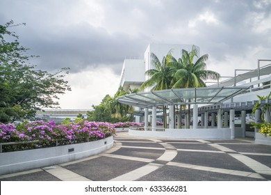 SINGAPORE-26 JAN 2017: Campus view in Nanyang Technological University in Singapore. NTU is one of the two largest public universities in Singapore.